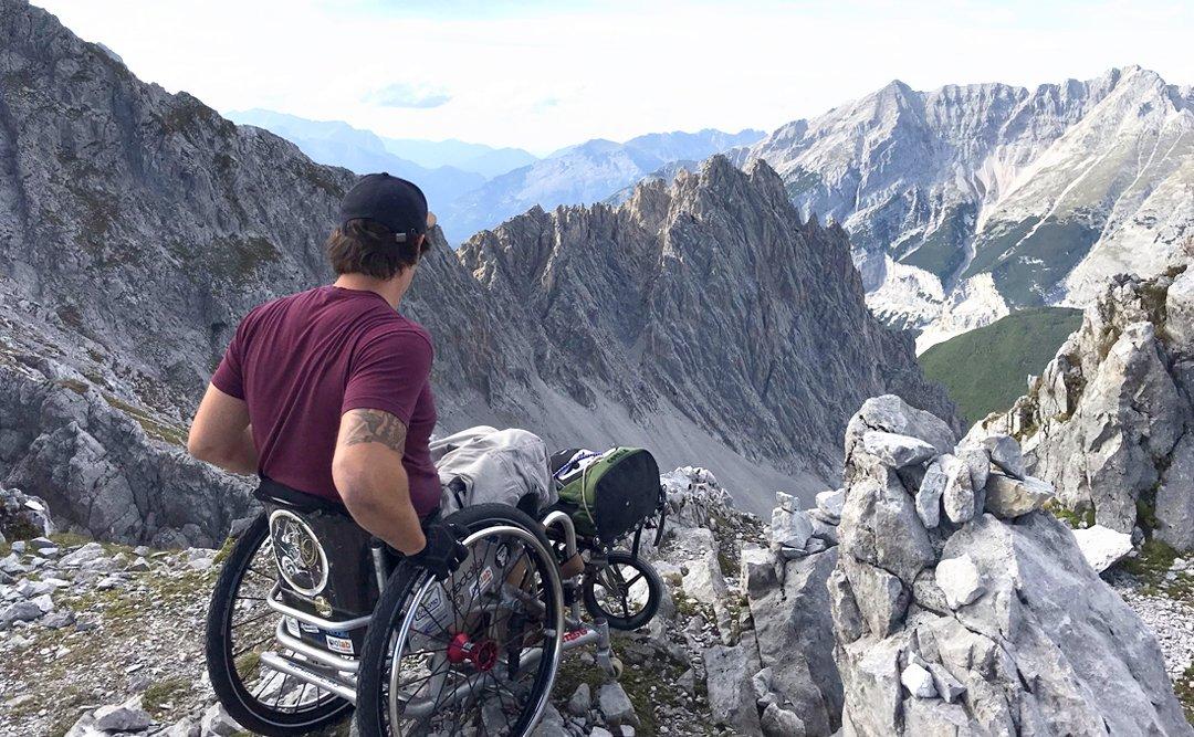Rollstuhl Berge
